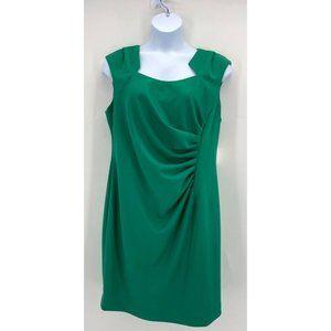 Calvin Klein Green Ruched Side Sheath Dress NWT
